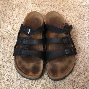 Birkenstock sandals.   Size 37 (7) black